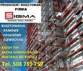 RUSZTOWANIE 580m2 już od 21400 zł SIGMA Producent Rusztowań Elewacyjnych SIGMA Rusztowania