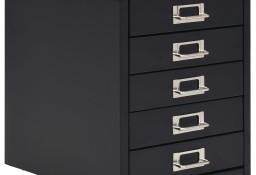vidaXL Szafka na dokumenty z 5 szufladami, metal, 28x35x35 cm, czarna245974
