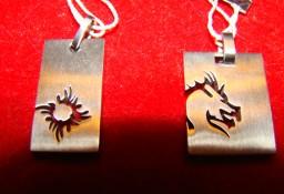 biżuteria dla panów zawieszki stal chirurgiczna srebro wyprzedaż