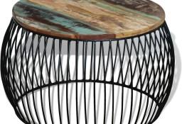 vidaXL Stolik kawowy z drewna odzyskanego, okrągły, 68 x 45 cm243300