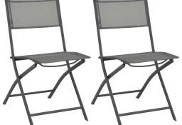 vidaXL Składane krzesła ogrodowe, 2 szt., stal i textilene 44710