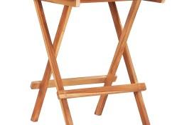 vidaXL Składany stolik bistro, 60x60x65 cm, lite drewno tekowe48996