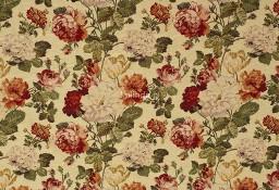 Róża angielska, materiał tapicerski, żakard