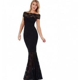 (38) ASOS/ Długa, czarna suknia wieczorowa/ ołówkowa sukienka wieczorowa z Londynu/ NOWA z metką