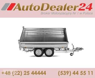 AutoDealer24.pl [NOWA FV Dowóz CAŁA EUROPA 7/24/365] 359 x 179 x 39 cm Brenderup KIPPER 3-STRONNY