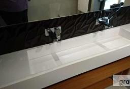 Długie umywalki - duże umywalki z blatem na wymiar. Umywalki nietypowe, podwojne, wielostanowiskowe.  Producent Luxum