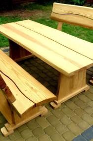 Meble ogrodowe drewniane dębowe ławy i stoły do baru lokalu restauracj-2