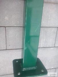 Słupki ogrodzeniowe 60x40 wys.150cm oc+kolor z podstawą