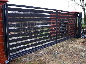 Brama Wjazdowa Przesuwna Palisada poprzeczne profile /montaż naprawa