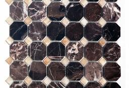 Mozaika Podwójna Marmurowa HANG BROWN/HONEY ONYX 30,5x30,5x1
