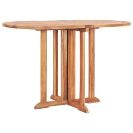 vidaXL Składany stół ogrodowy, 120x70x75 cm, lite drewno tekowe49002