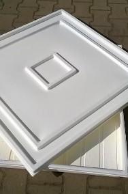 Kuweta z tworzywa 83x83x7cm z pokrywą kolor biały-2