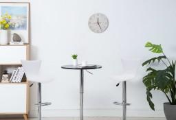 vidaXL Obrotowe krzesła barowe, 2 szt., białe, sztuczna skóra246936
