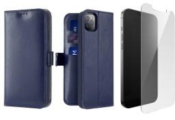 Etui Kado do iPhone 12 Pro Max niebieski + szkło