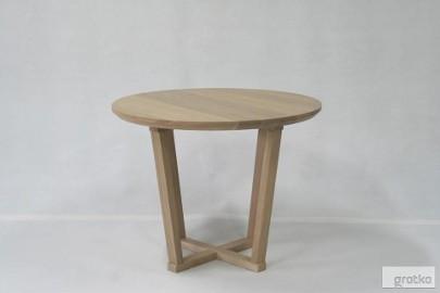 stół IVO dębowy stolik, dąb bielony, lite drewno