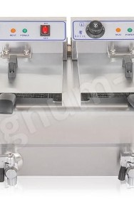 Podwójna frytkownica, frytownica 2x16L z kranikami-2