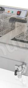 Podwójna frytkownica, frytownica 2x16L z kranikami-3