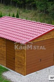 Nowoczesne garaże blaszane Drewnopodobne Producent garaży blaszanych blaszak 3x5-2
