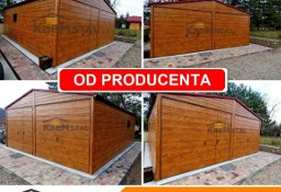 Nowoczesne garaże blaszane Drewnopodobne Producent garaży blaszanych blaszak 3x5