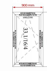 Okno Witryna Aluminiowa Zimna 900x1600 Drzwi Aluminiowe Dowolny Wymiar-2