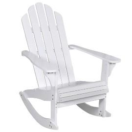 vidaXL Ogrodowy fotel bujany, drewniany, biały 40861
