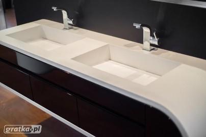 Umywalki na wymiar. Umywalki wielostanowiskowe, podwójne, z blatem. Producent umywalek w pojedynczych egzemplarzach według projektu.