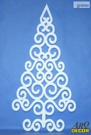 Choinka ażurowa, styropianowe dekoracje świąteczne