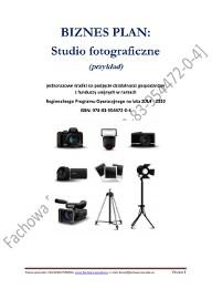 BIZNESPLAN studio fotograficzne 2019 (przykład)