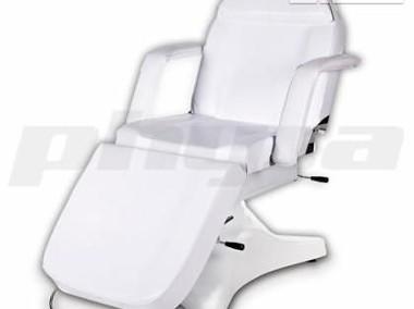 Fotel kosmetyczny łóżko do masażu wytrzymałe białe-1