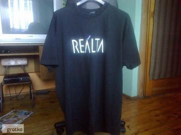 T-shirt czarna koszulka męska REALTA XXXL