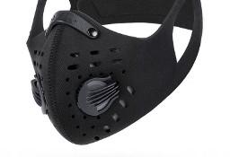 Maska Ochronna Wielorazowa Na Rzepy z Filtrem Czarna