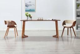 vidaXL Krzesła do jadalni, 2 szt., kremowe, gięte drewno i ekoskóra278856