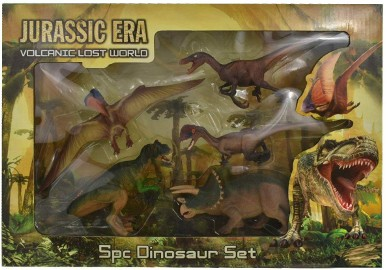 Dinozaury Zestaw 5 szt. Figurki Tyranozaur T-Rex JURASSIC ERA