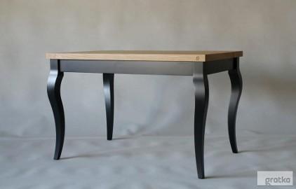 stół Luigi Nero, lite drewno, dąb szczotkowany, olejowany