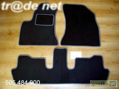 Citroen C4 Grand Picasso od 2006 r. 3 rzędy najwyższej jakości dywaniki samochodowe z grubego weluru z gumą od spodu, dedykowane Citroen C4-1