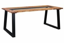 vidaXL Stół jadalniany, 180 x 90 x 75 cm, lite drewno akacjowe i szkło 288067
