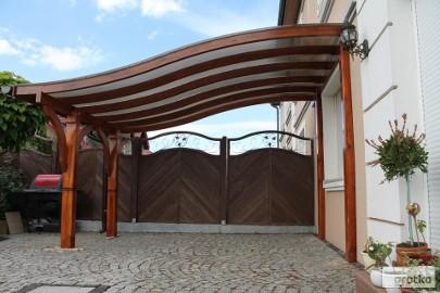 KROKIEW GIĘTA 5m Wiata Pergola Taras Altana Dach Zadaszenie tarasu garaż