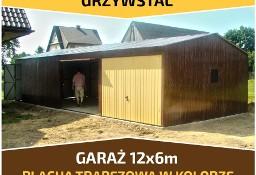 Garaż blaszany dwuspadowy 12x5m blacha w kolorze RAL mocna konstrukcja