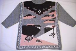Szary sweter z wzorem L 40 42
