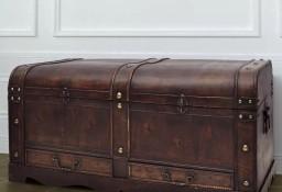 vidaXL Duży, drewniany kufer, brązowy60797