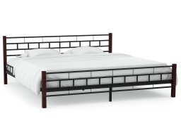 vidaXL Rama łóżka, czarna, metalowa, 180 x 200 cm 246737