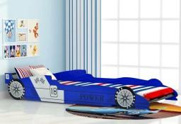 vidaXL Łóżko dziecięce w kształcie samochodu, 90x200 cm, niebieski244465