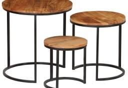 vidaXL Zestaw 3 stolików kawowych, akacja stylizowana na sheesham246063