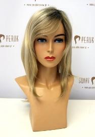 Peruka długa z włosa syntetycznego w odcieniu blondu z odrostem Kraśnik