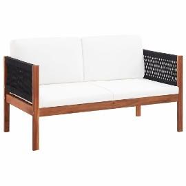 vidaXL Sofa ogrodowa, 2-osobowa, lite drewno akacjowe 46341