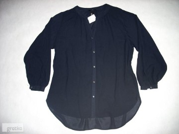 H&M Granatowa koszula Modna Luźna Stójka NOWA L XL