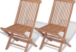 vidaXL Składane krzesła ogrodowe, 2 szt., lite drewno tekowe 41993