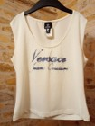 (38/M) VERSACE/ Biała, bogato zdobiona cyrkoniami bluzka z Włoch