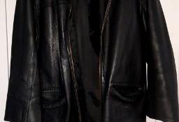 sprzedam - Kurtka skórzana (L) czarna - real foto- stan BDB