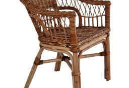 vidaXL Krzesła ogrodowe, naturalny rattan, brązowe 246809